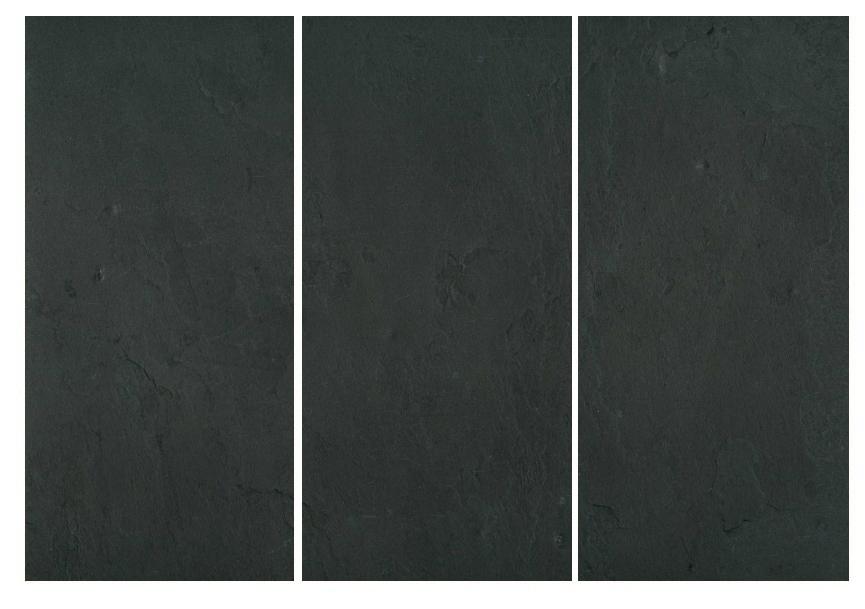 Feuille de pierre naturelle ardoise noire