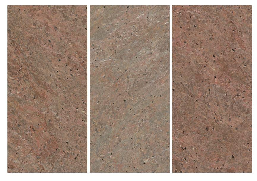 Feuille de pierre naturelle cuivre1